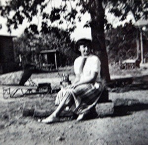 Jessie May Roper on the family's Dysartsville farm