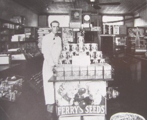 Bill Nichols' uncle Grady poses in his Old Fort store in the early 30s. He was elected sheriff in 1936.