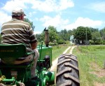 Our tour included a ride in a wagon, pulled by a vintage 1951 John Deere tractor!